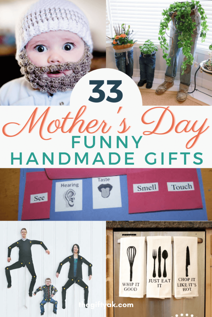 33 Funny Mothers Day DIY Homemade Craft Gift Inspiration Pinterest How to Make Tutorial Guide