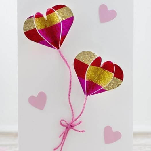 3D Heart Card Easy Last Minute Mothers Day DIY Homemade Crafting Gift Ideas Inspiration How To Make Tutorials Recipes Gifts To Make