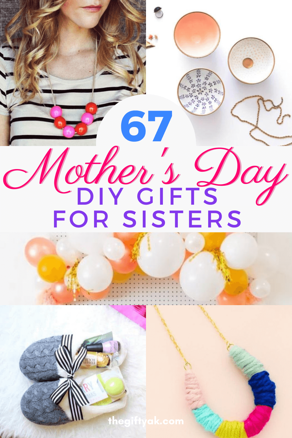 67 Sisters Mothers Day DIY Homemade Craft Gift Inspiration Pinterest How to Make Tutorial Guide