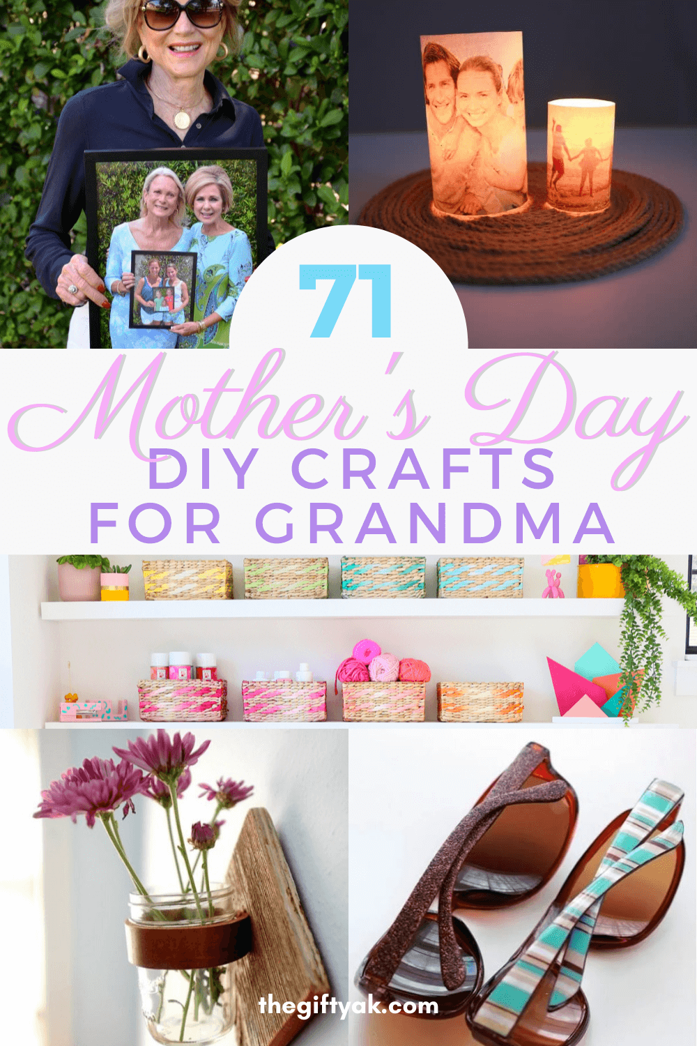 71 Grandma Mothers Day DIY Homemade Craft Gift Inspiration Pinterest How to Make Tutorial Guide