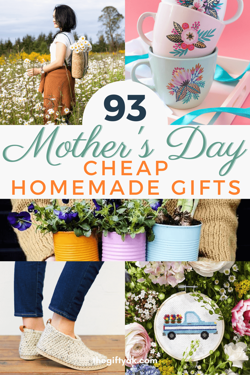 93 Cheap Mothers Day DIY Homemade Craft Gift Inspiration Pinterest How to Make Tutorial Guide