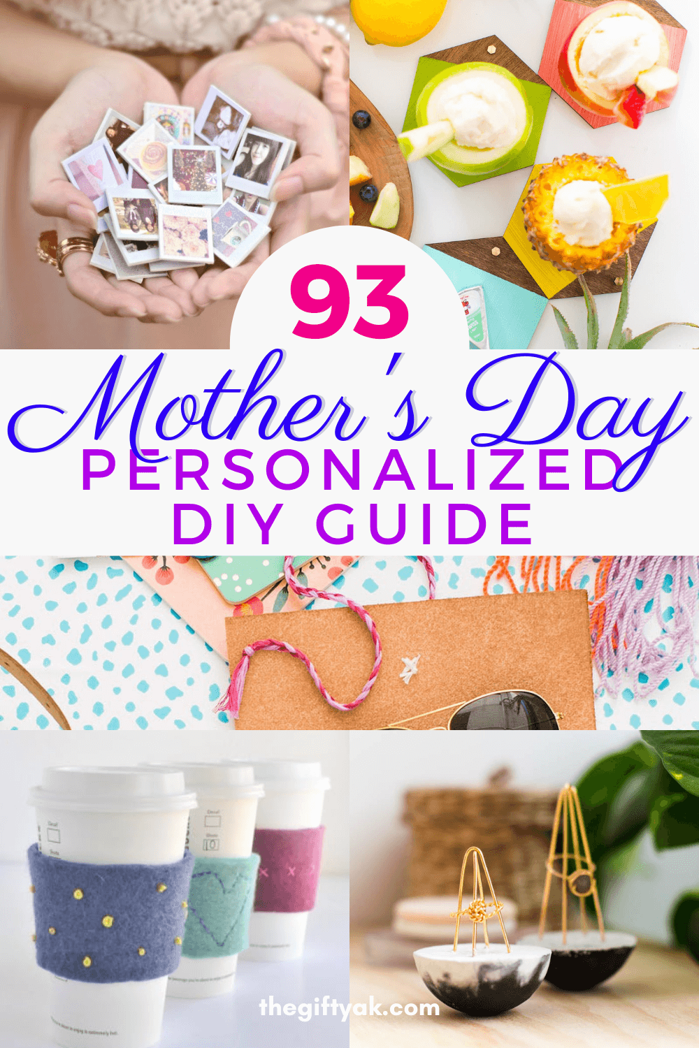 93 Personalized Mothers Day DIY Homemade Craft Gift Inspiration Pinterest How to Make Tutorial Guide