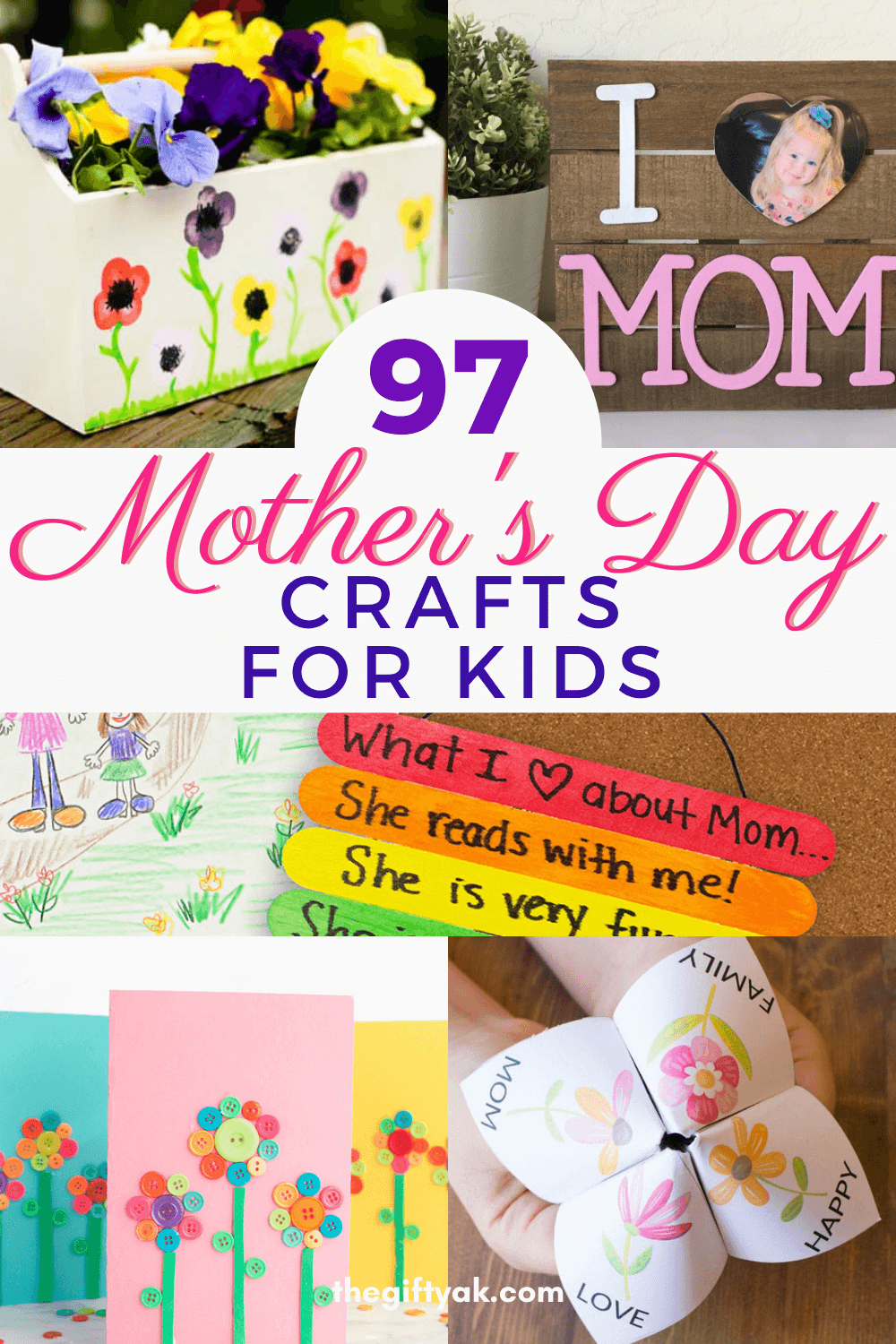 97 Kids Mothers Day DIY Homemade Craft Gift Inspiration Pinterest How to Make Tutorial Guide