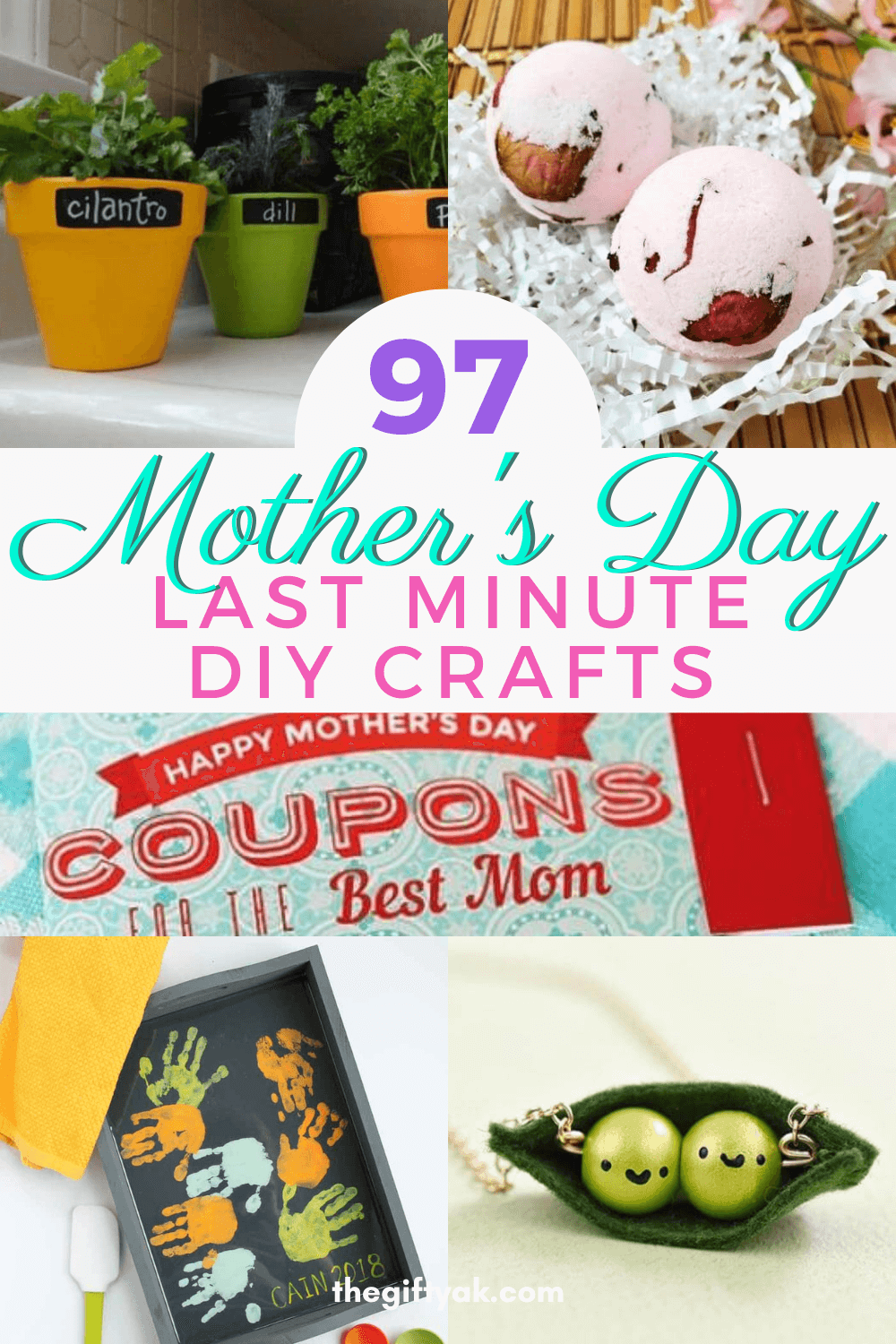 97 Last Minute Mothers Day DIY Homemade Craft Gift Inspiration Pinterest How to Make Tutorial Guide