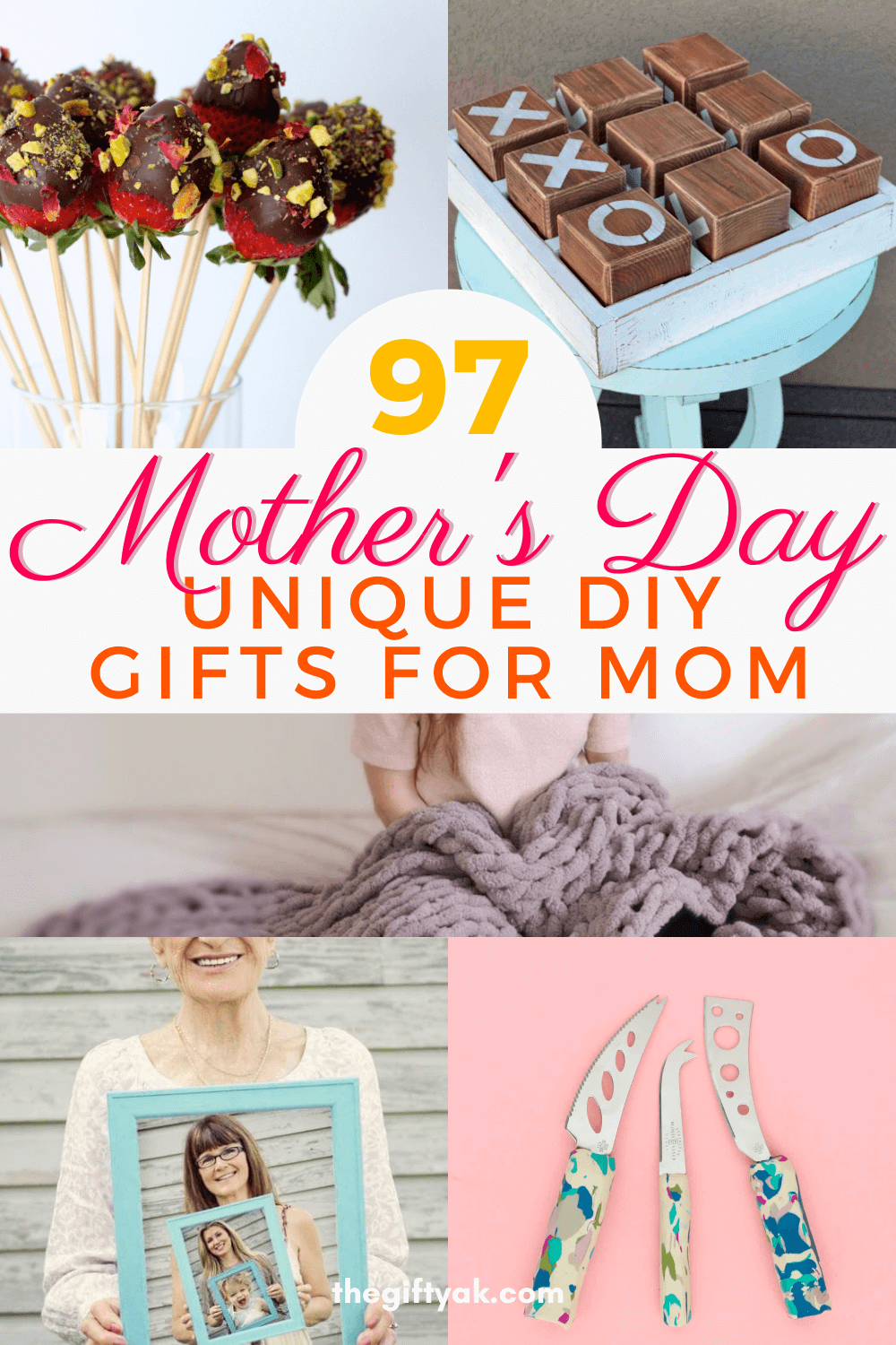 97 Unique Mothers Day DIY Homemade Craft Gift Inspiration Pinterest How to Make Tutorial Guide