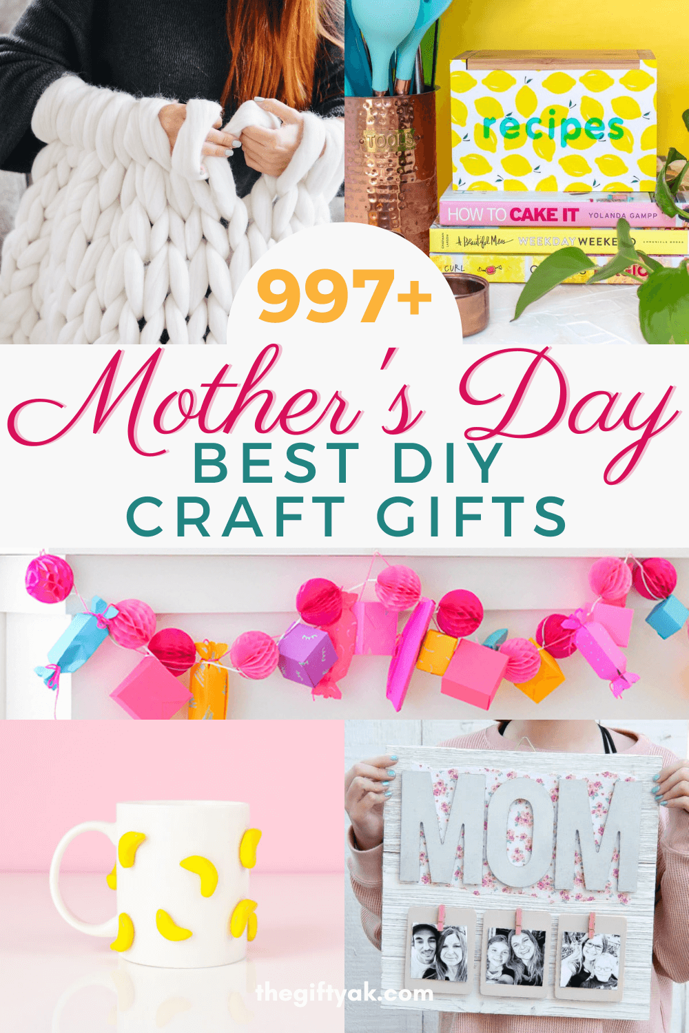 997 Best Mothers Day DIY Homemade Craft Gift Inspiration Pinterest How to Make Tutorial Guide