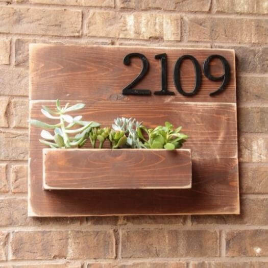 Address Wall Planter Best Friend Mothers Day DIY Homemade Crafting Gift Ideas Inspiration How To Make Tutorials Recipes Gifts To Make