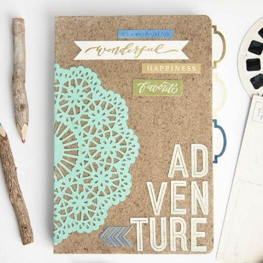Adventure Notebook Sister Mothers Day DIY Homemade Crafting Gift Ideas Inspiration How To Make Tutorials Recipes Gifts To Make
