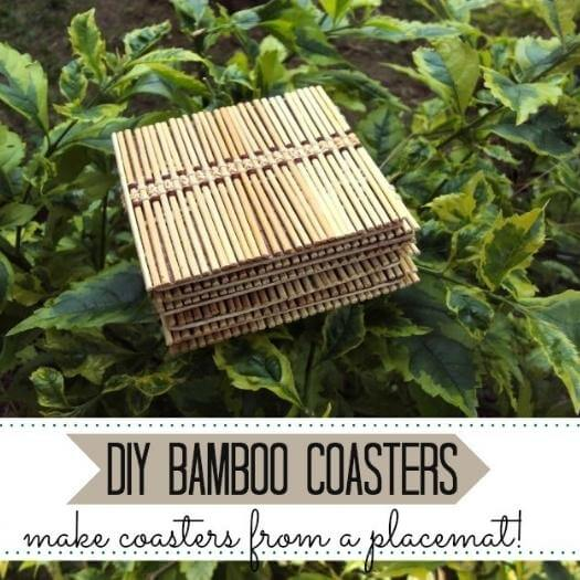 Bamboo Coasters Unique Mothers Day DIY Homemade Crafting Gift Ideas Inspiration How To Make Tutorials Recipes Gifts To Make
