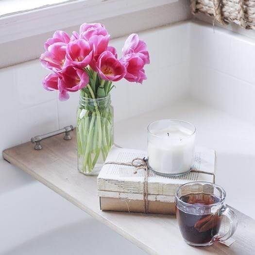 Bathtub Tray Best Friend Mothers Day DIY Homemade Crafting Gift Ideas Inspiration How To Make Tutorials Recipes Gifts To Make