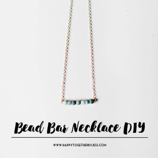 Bead Bar Necklace Best Friend Mothers Day DIY Homemade Crafting Gift Ideas Inspiration How To Make Tutorials Recipes Gifts To Make