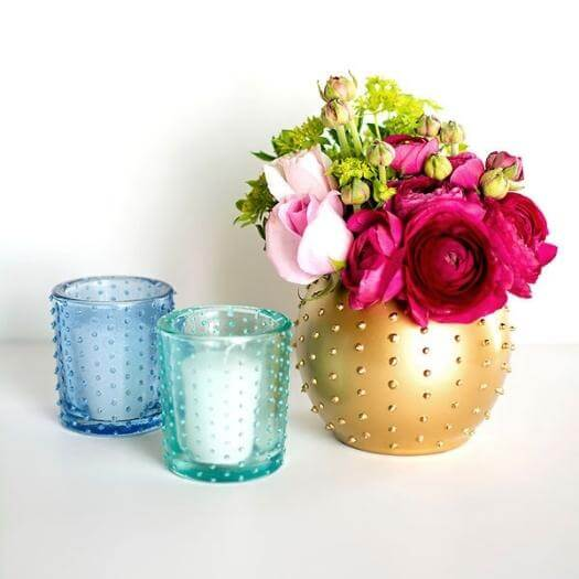 Beaded Candle Holder and Vase Best Mothers Day DIY Homemade Crafting Gift Ideas Inspiration How To Make Tutorials Recipes Gifts To Make