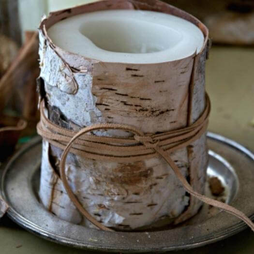 Birch Candle Sister Mothers Day DIY Homemade Crafting Gift Ideas Inspiration How To Make Tutorials Recipes Gifts To Make