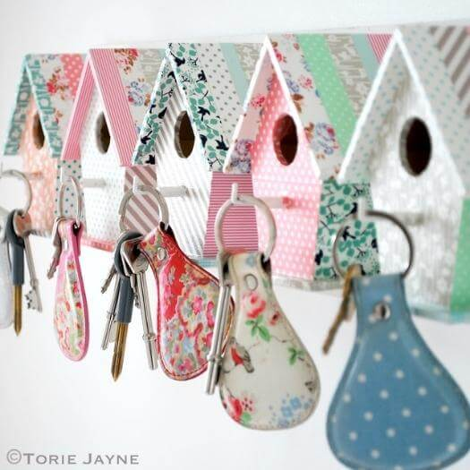 Birdhouse Key Hooks Sister Mothers Day DIY Homemade Crafting Gift Ideas Inspiration How To Make Tutorials Recipes Gifts To Make