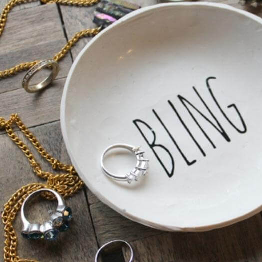 Bling Ring Dish Sister Mothers Day DIY Homemade Crafting Gift Ideas Inspiration How To Make Tutorials Recipes Gifts To Make