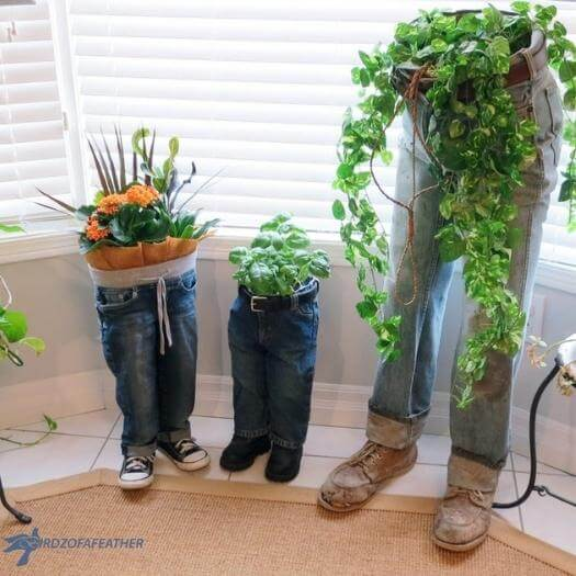 Blue Jean Planters Funny Mothers Day DIY Homemade Crafting Gift Ideas Inspiration How To Make Tutorials Recipes Gifts To Make