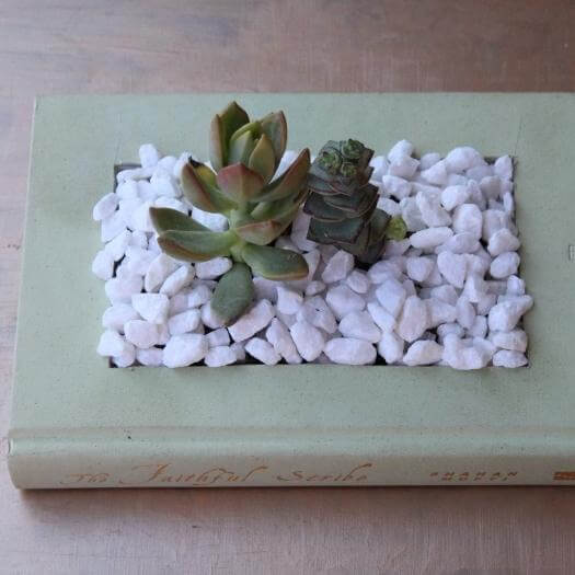 Book Planter Unique Mothers Day DIY Homemade Crafting Gift Ideas Inspiration How To Make Tutorials Recipes Gifts To Make
