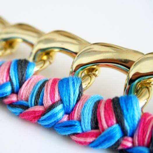 Braided Chain Bracelet Sister Mothers Day DIY Homemade Crafting Gift Ideas Inspiration How To Make Tutorials Recipes Gifts To Make