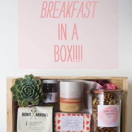Breakfast In A Box Easy Last Minute Mothers Day DIY Homemade Crafting Gift Ideas Inspiration How To Make Tutorials Recipes Gifts To Make
