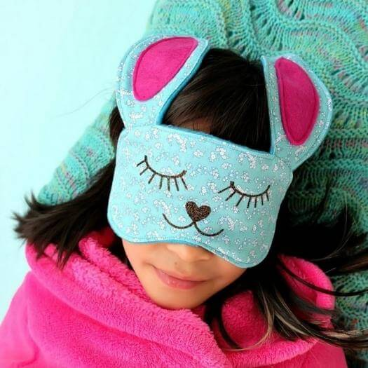Bunny Sleep Mask Personalized Mothers Day DIY Homemade Crafting Gift Ideas Inspiration How To Make Tutorials Recipes Gifts To Make