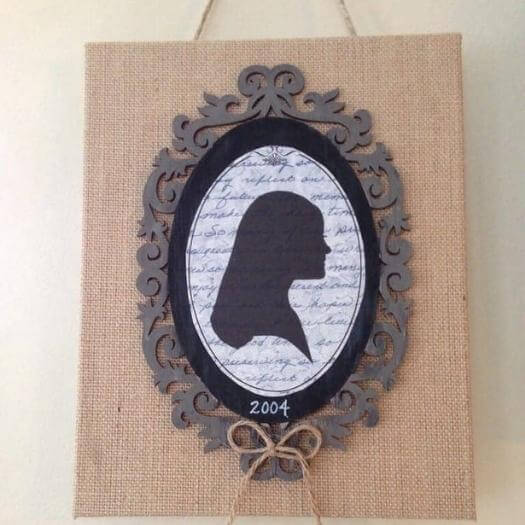 Burlap Silhouette Grandma Mothers Day DIY Homemade Crafting Gift Ideas Inspiration How To Make Tutorials Recipes Gifts To Make