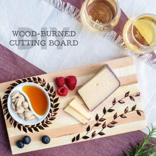 Burned Cutting Board Grandma Mothers Day DIY Homemade Crafting Gift Ideas Inspiration How To Make Tutorials Recipes Gifts To Make