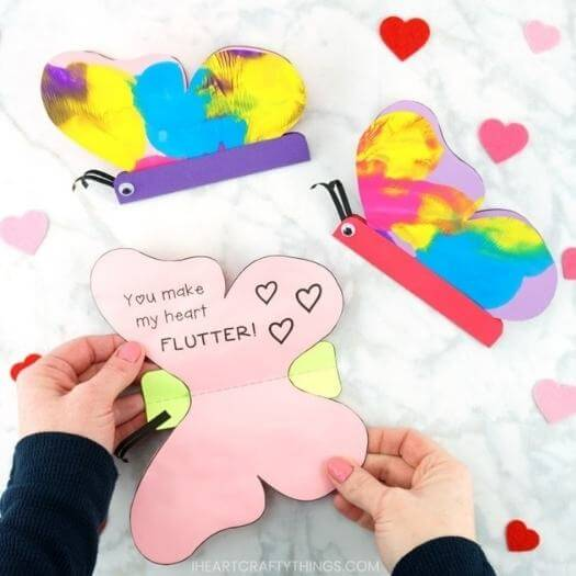 Butterfly Card Kids Mothers Day DIY Homemade Crafting Gift Ideas Inspiration How To Make Tutorials Recipes Gifts To Make
