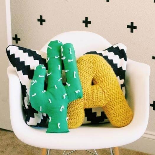 Cactus Pillow Mexican Mothers Day DIY Homemade Crafting Gift Ideas Inspiration How To Make Tutorials Recipes Gifts To Make