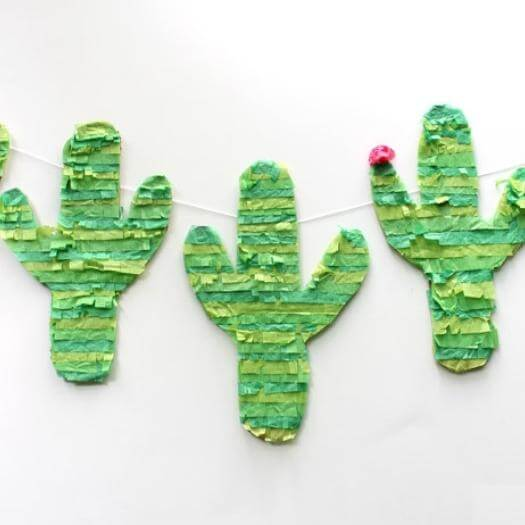 Cactus Pinata Banner Mexican Mothers Day DIY Homemade Crafting Gift Ideas Inspiration How To Make Tutorials Recipes Gifts To Make