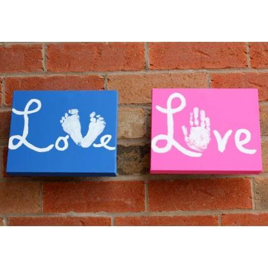 Canvas Of Love Kids Mothers Day DIY Homemade Crafting Gift Ideas Inspiration How To Make Tutorials Recipes Gifts To Make
