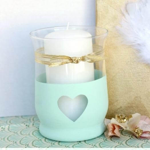 Chalk Paint Candle Holder Best Friend Mothers Day DIY Homemade Crafting Gift Ideas Inspiration How To Make Tutorials Recipes Gifts To Make