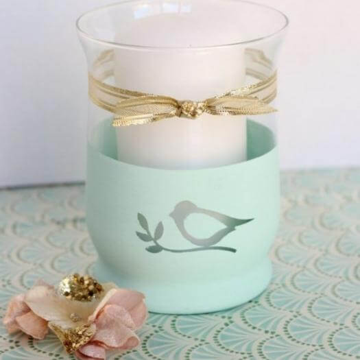 Chalk Paint Heart Candle Holder Best Mothers Day DIY Homemade Crafting Gift Ideas Inspiration How To Make Tutorials Recipes Gifts To Make