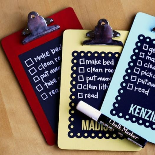 Chalkboard Chore Charts Unique Mothers Day DIY Homemade Crafting Gift Ideas Inspiration How To Make Tutorials Recipes Gifts To Make