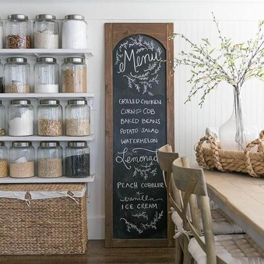 Chalkboard Menu Unique Mothers Day DIY Homemade Crafting Gift Ideas Inspiration How To Make Tutorials Recipes Gifts To Make