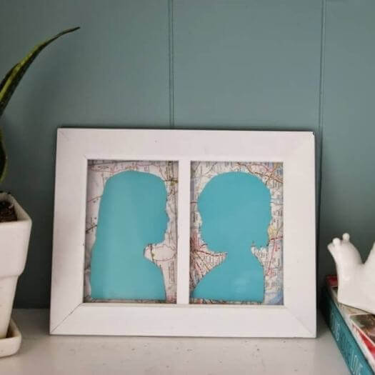 Children Silhouette Kids Mothers Day DIY Homemade Crafting Gift Ideas Inspiration How To Make Tutorials Recipes Gifts To Make