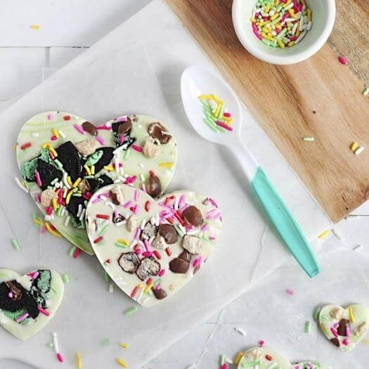 Chocolate Heart Bark Best Mothers Day DIY Homemade Crafting Gift Ideas Inspiration How To Make Tutorials Recipes Gifts To Make