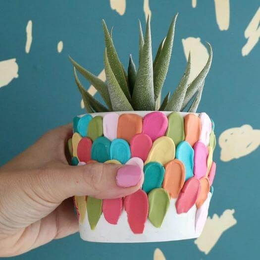 Clay Petal Planter Best Mothers Day DIY Homemade Crafting Gift Ideas Inspiration How To Make Tutorials Recipes Gifts To Make