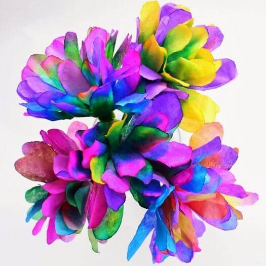 Coffee Filter Flowers Kids Mothers Day DIY Homemade Crafting Gift Ideas Inspiration How To Make Tutorials Recipes Gifts To Make
