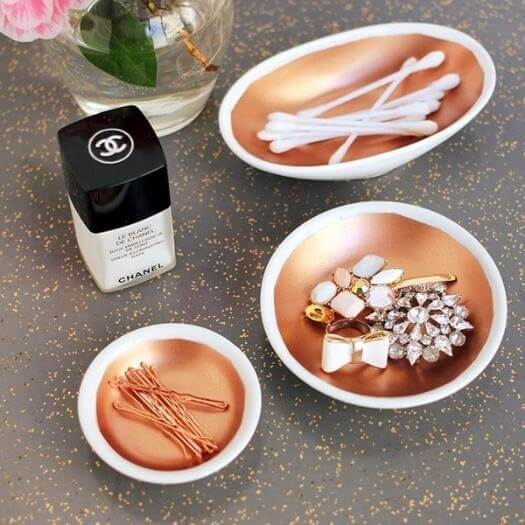 Copper Vanity Bowls Best Friend Mothers Day DIY Homemade Crafting Gift Ideas Inspiration How To Make Tutorials Recipes Gifts To Make