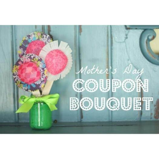 Coupon Bouquet Easy Last Minute Mothers Day DIY Homemade Crafting Gift Ideas Inspiration How To Make Tutorials Recipes Gifts To Make