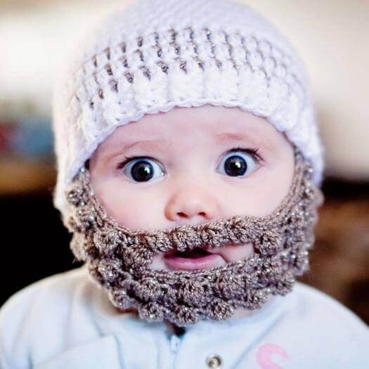 Crochet Baby Beard Funny Mothers Day DIY Homemade Crafting Gift Ideas Inspiration How To Make Tutorials Recipes Gifts To Make