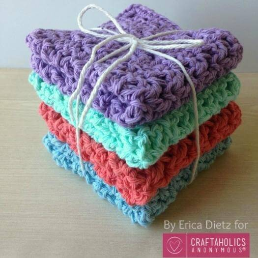 Crochet Washcloth Unique Mothers Day DIY Homemade Crafting Gift Ideas Inspiration How To Make Tutorials Recipes Gifts To Make