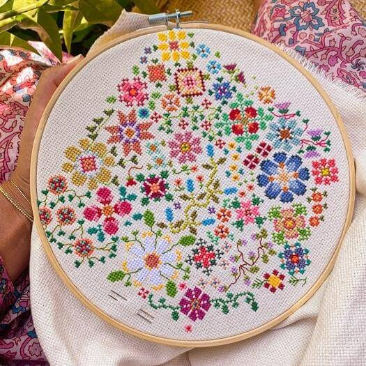 Cross Stitch Pattern Grandma Mothers Day DIY Homemade Crafting Gift Ideas Inspiration How To Make Tutorials Recipes Gifts To Make