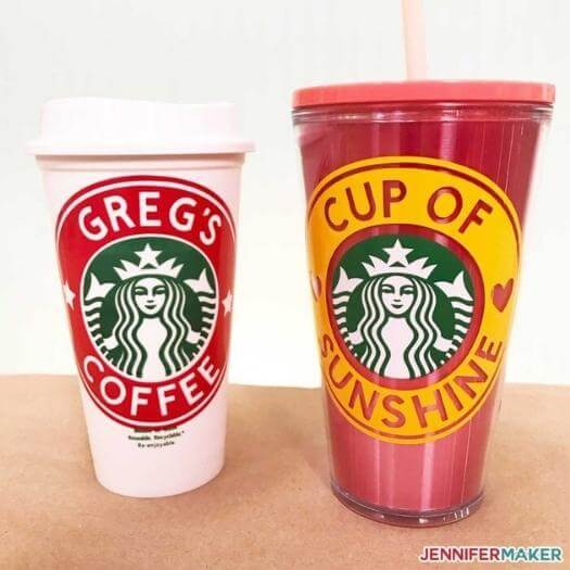 Customized Starbucks Cup Unique Mothers Day DIY Homemade Crafting Gift Ideas Inspiration How To Make Tutorials Recipes Gifts To Make