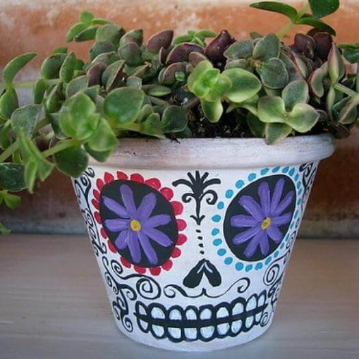 Day of the Dead Planters Mexican Mothers Day DIY Homemade Crafting Gift Ideas Inspiration How To Make Tutorials Recipes Gifts To Make