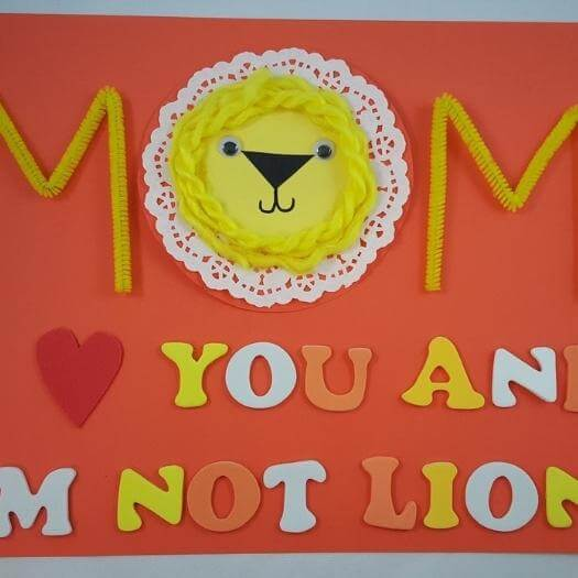 Doily Lion Unique Mothers Day DIY Homemade Crafting Gift Ideas Inspiration How To Make Tutorials Recipes Gifts To Make