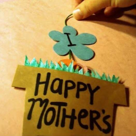 Easy Flower Pot Card Easy Last Minute Mothers Day DIY Homemade Crafting Gift Ideas Inspiration How To Make Tutorials Recipes Gifts To Make
