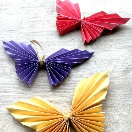 Easy Paper Butterfly Easy Last Minute Mothers Day DIY Homemade Crafting Gift Ideas Inspiration How To Make Tutorials Recipes Gifts To Make