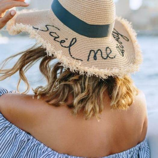 Embroidered Straw Hat Best Friend Mothers Day DIY Homemade Crafting Gift Ideas Inspiration How To Make Tutorials Recipes Gifts To Make
