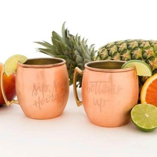 Engraved Copper Mugs Sister Mothers Day DIY Homemade Crafting Gift Ideas Inspiration How To Make Tutorials Recipes Gifts To Make